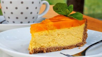 Photo of Bezlepkový mango cheesecake